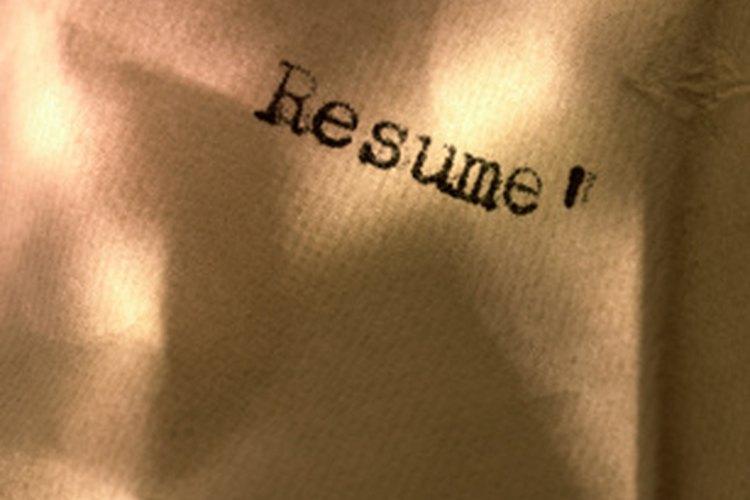 Los títulos de los currículums darán la clave a un empleador potencial sobre tus habilidades e intereses.