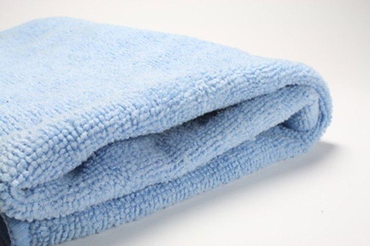 Puedes limpiar fácilmente los paños de microfibra.
