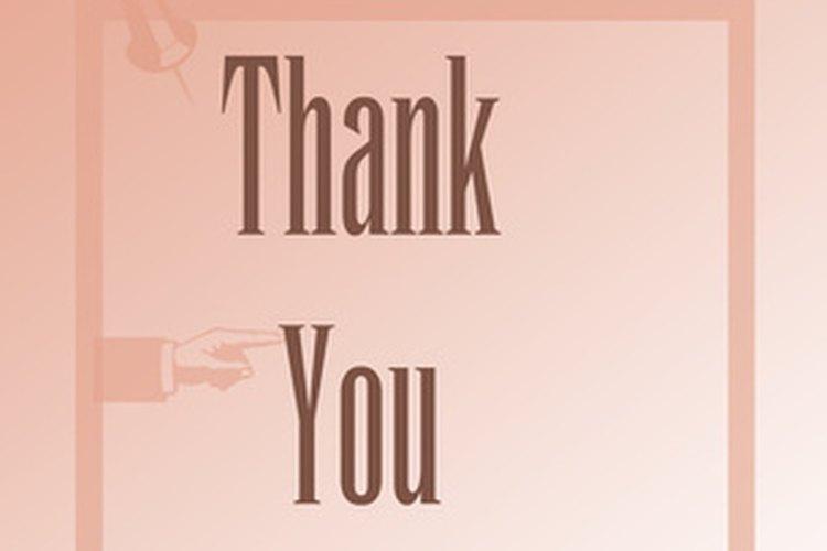 Una nota de agradecimiento es una buena forma de expresar tu gratitud a los donadores después de un evento para recaudar fondos.