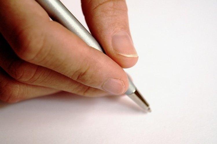 Escribe una carta.