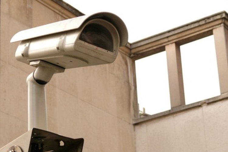 Una cámara de seguridad.
