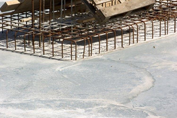 Barras de refuerzo de tamaño típico.