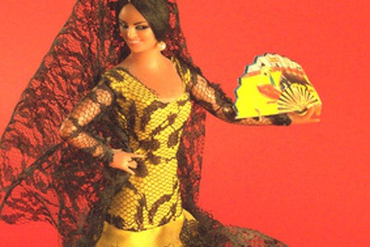 Bailarina de flamenco.