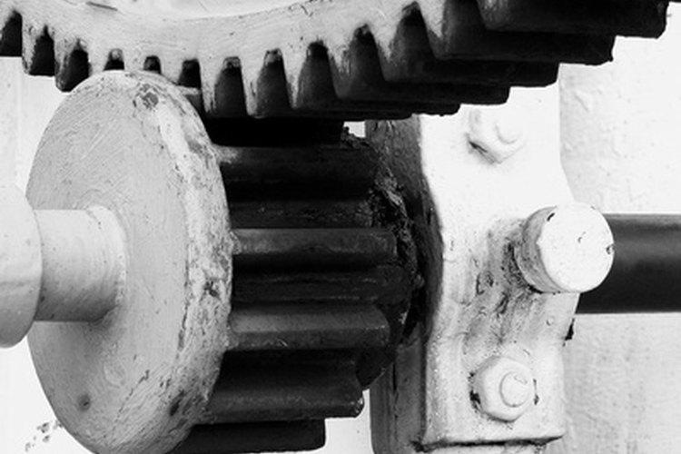 Los engranajes rectos se usan para aumentar o disminuir la velocidad.