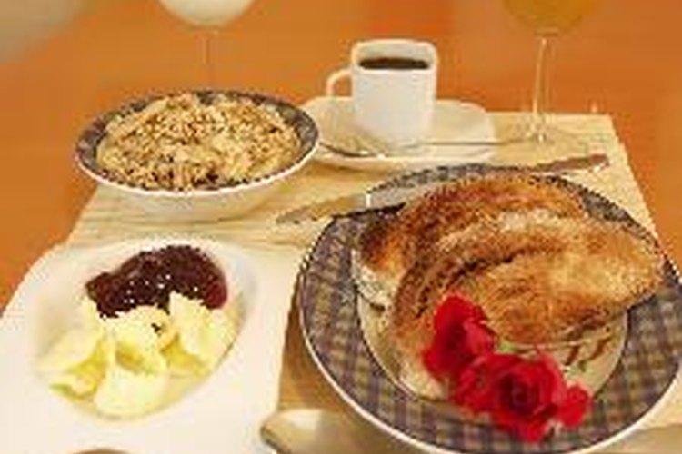 Un desayuno bien completo.