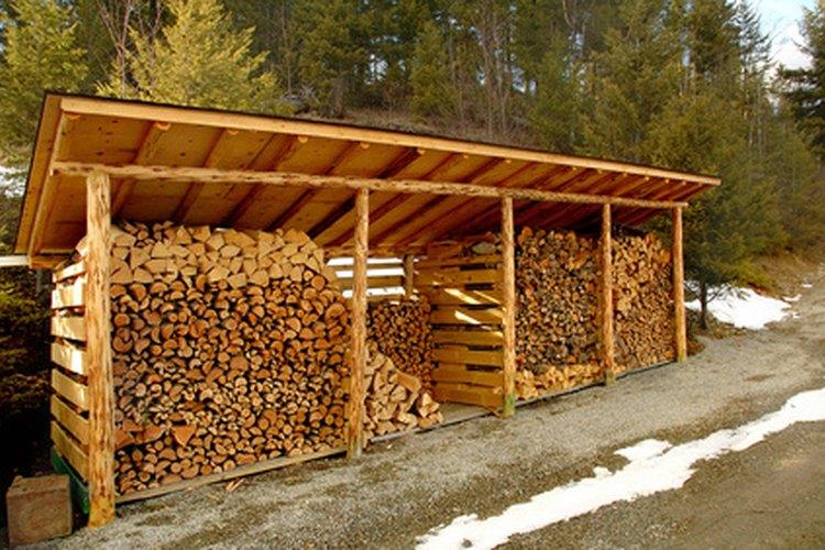 Dise os para construir un cobertizo de madera para almacenar le a - Como hacer cobertizo de madera ...