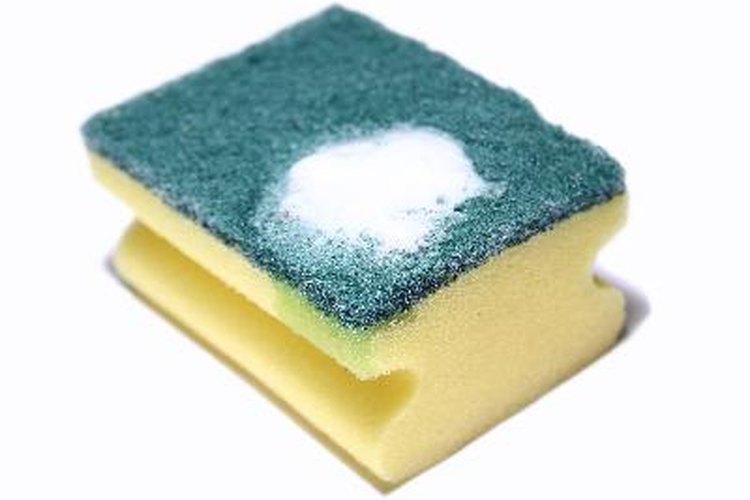 Sumerge una esponja en la solución y exprímela.