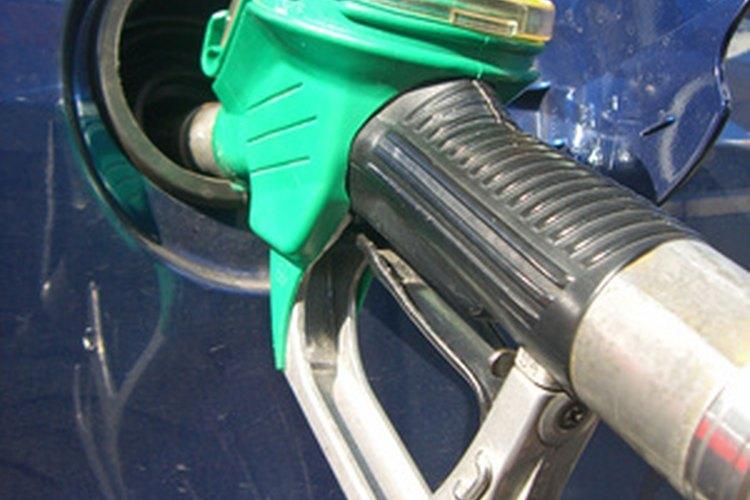 La gasolina evaporada está contenida en el aire.