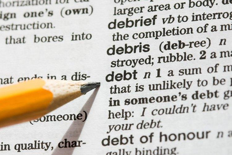 Una deuda es una responsabilidad que el prestatario debe repagar.