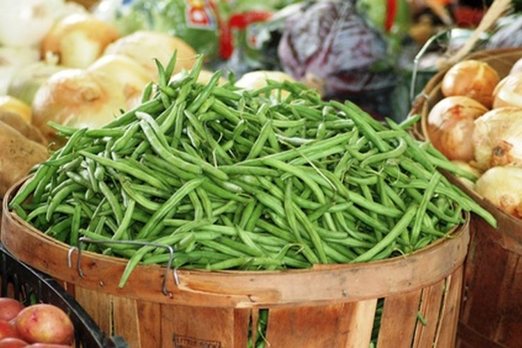 Las judías verdes están disponibles en variedades como los arbustos y plantas que crecen verticalmente.