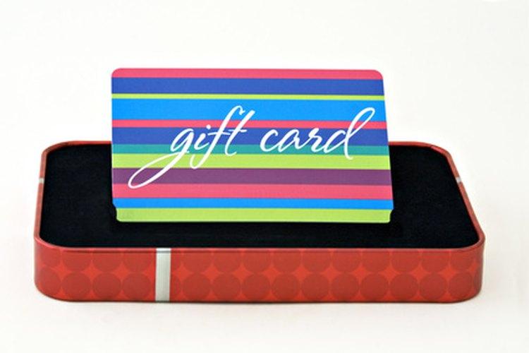 Las tarjetas de regalo pueden presentarse en bonitas cajas o envases.