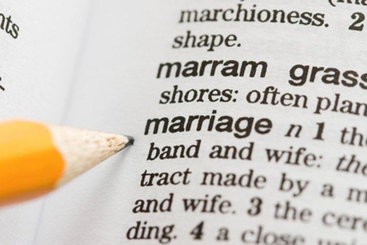 Definición de matrimonio.