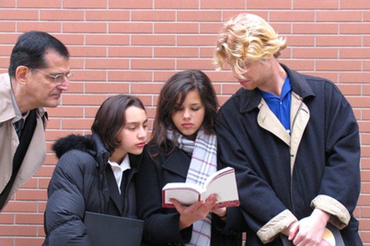 Juez y jurado en la clase de inglés.