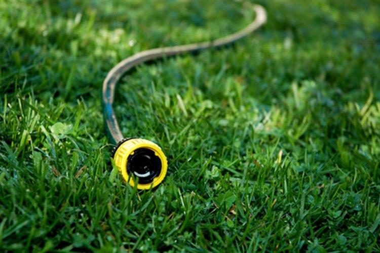 Se puede usar una manguera normal de jardín para extender la manguera de agua fría de tu lavadora.