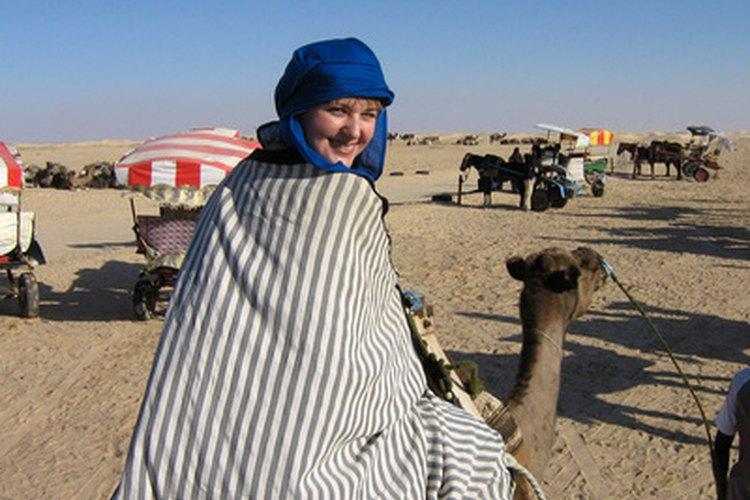 Una mujer saudí en un hijab.