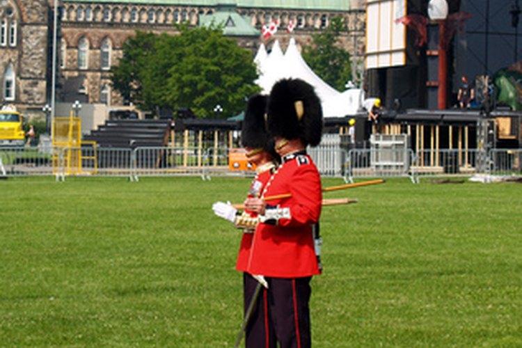 La Guardia Real cuida al rey o a la reina.