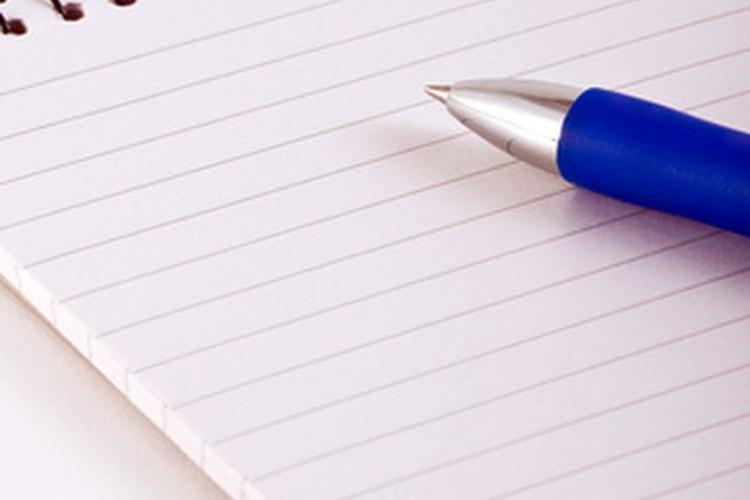Primero escribe tus pensamientos.