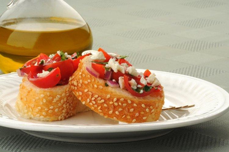 Bruschetta con tomate.