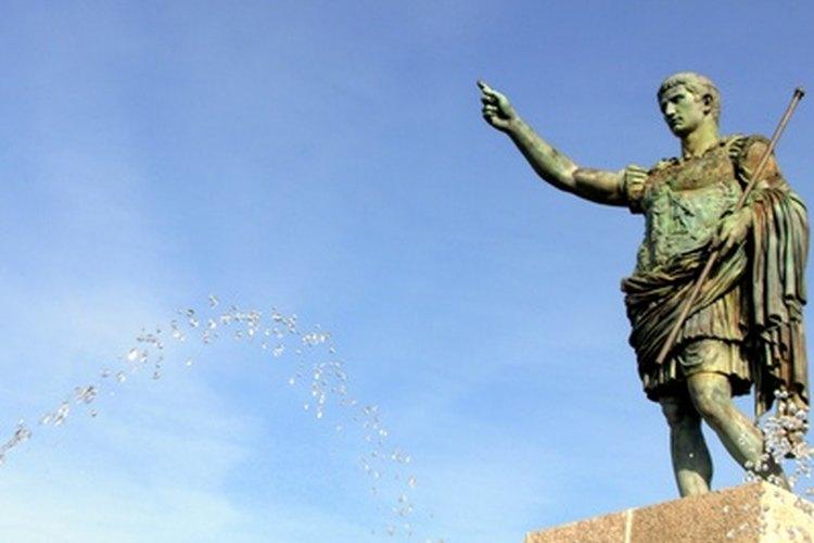 Los emperadores romanos algunas veces construían columnas de la victoria para conmemorar sus hazañas militares.