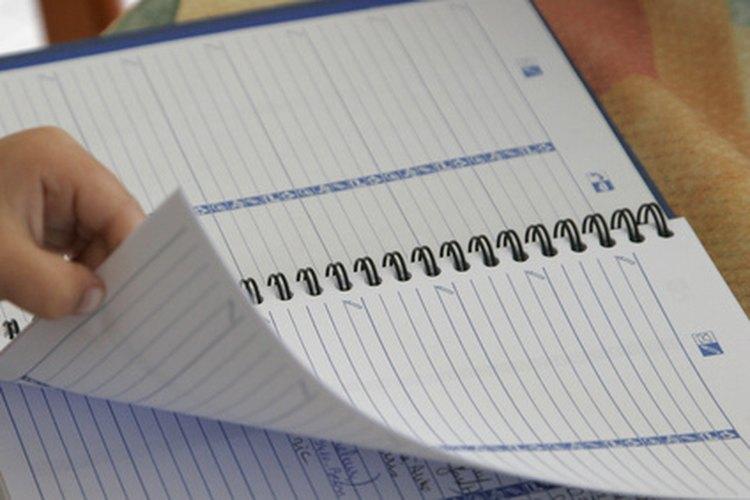 Una agenda escolar ayuda a los estudiantes a registrar la información importante.