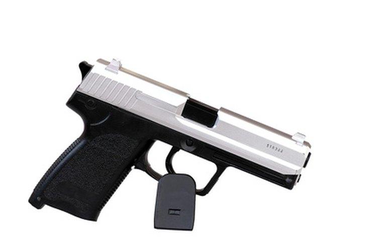 Pistola semiautomática.