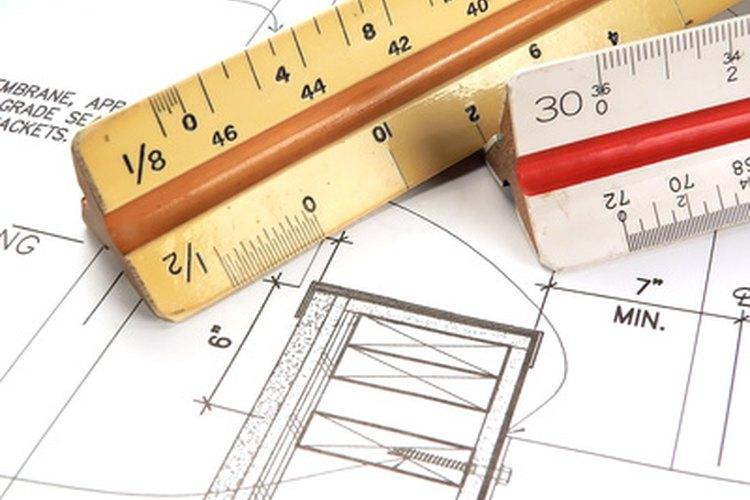 Una escala de arquitecto.