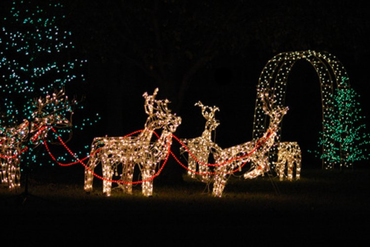 Las luces animadas se utilizan en exhibiciones de exterior.