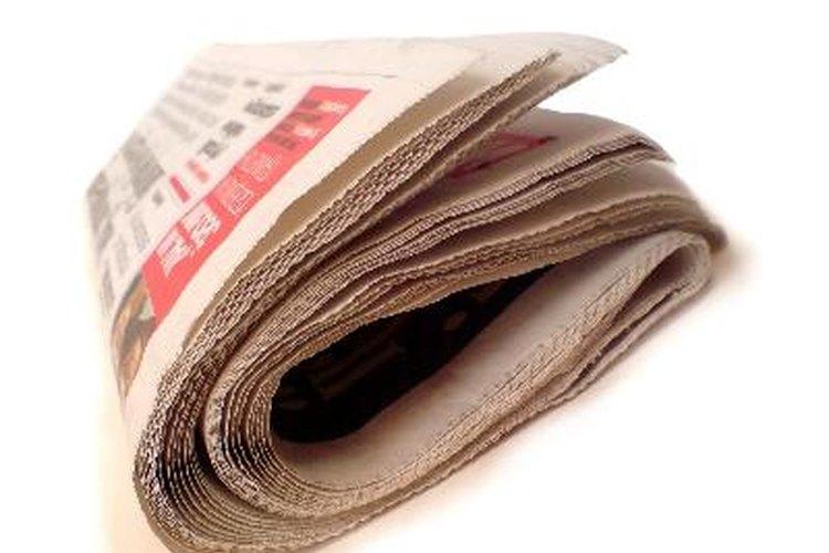 Guarda copias de tus periódicos locales.
