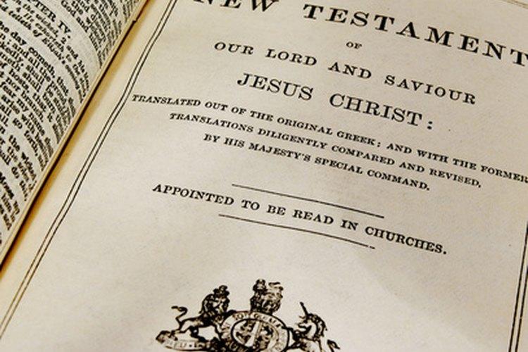 El Nuevo Testamento tiene cinco divisiones.