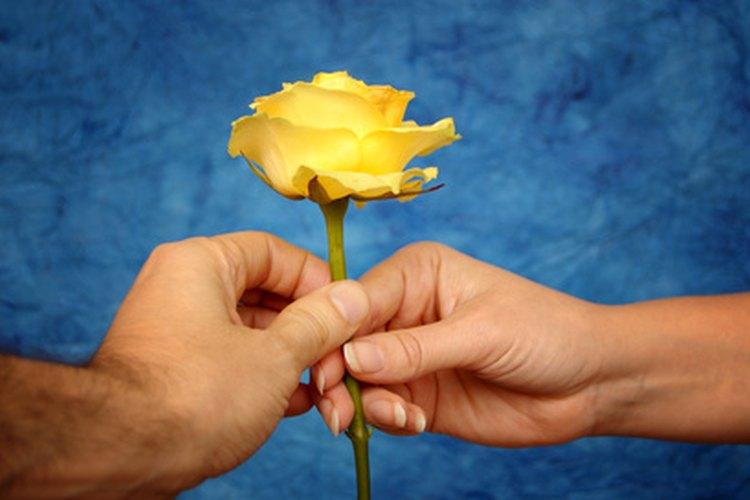 Darle a alguien una flor es un gesto no verbal que expresa amor.
