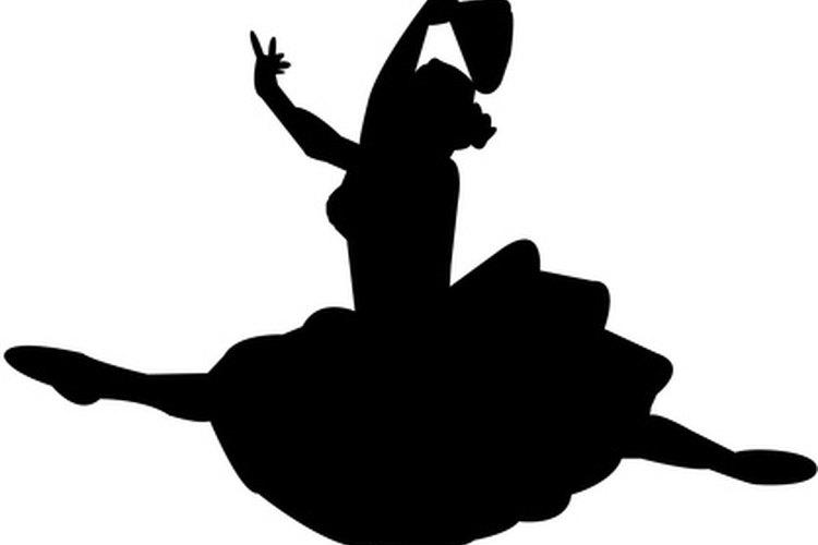 Una silueta de una bailarina realizando un