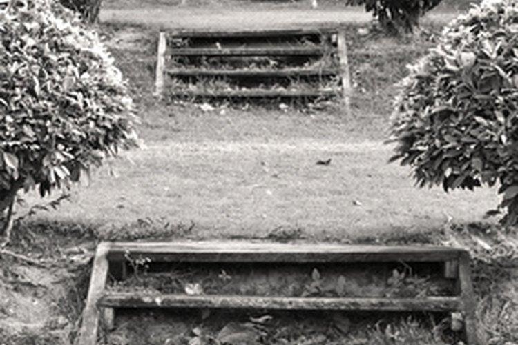 No tienes que completar los escalones con ladrillos; llénalos con tierra para que tengan un aspecto natural.