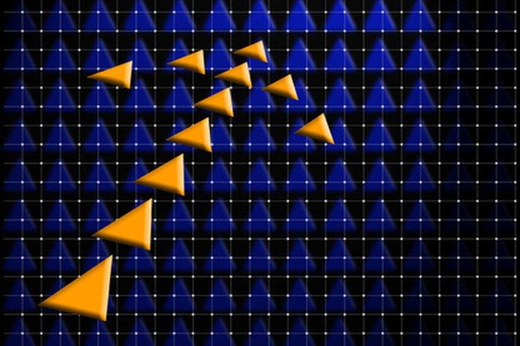 El desplazamiento es indicado formalmente por un vector, una cantidad que es dibujada como una flecha que indica la dirección y la longitud sobre la cuadrícula.