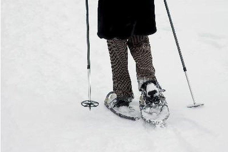 Las personas gustan de esquiar, caminar sobre raquetas de nieve durante el invierno.