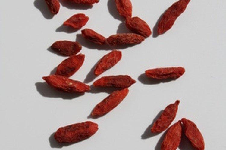 Las bayas de Goji están disponibles más frecuentemente deshidratadas.