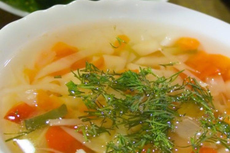 Arregla una sopa muy salada.