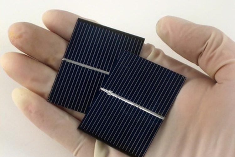 Ejemplo de celda solar de producción en masa.