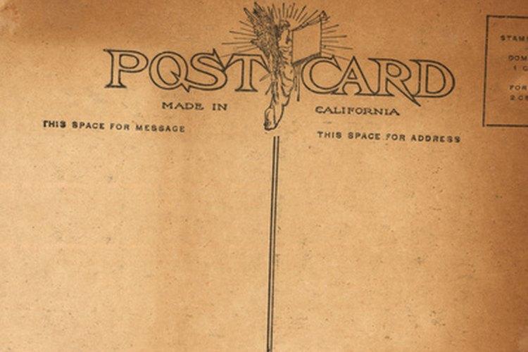 El USPS tiene requerimientos específicos de medida para las tarjetas postales.