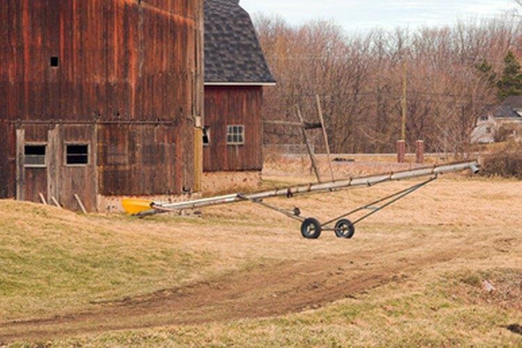 Los sinfines transportan el grano a las unidades de almacenamiento.