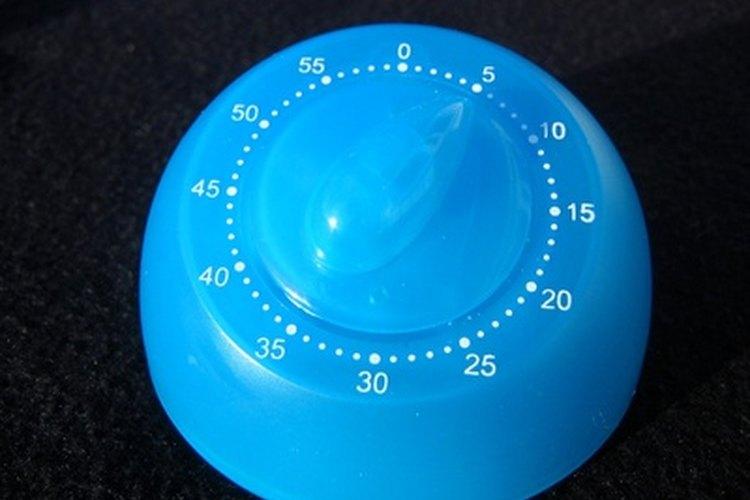 Un temporizador es muy útil durante la limpieza.