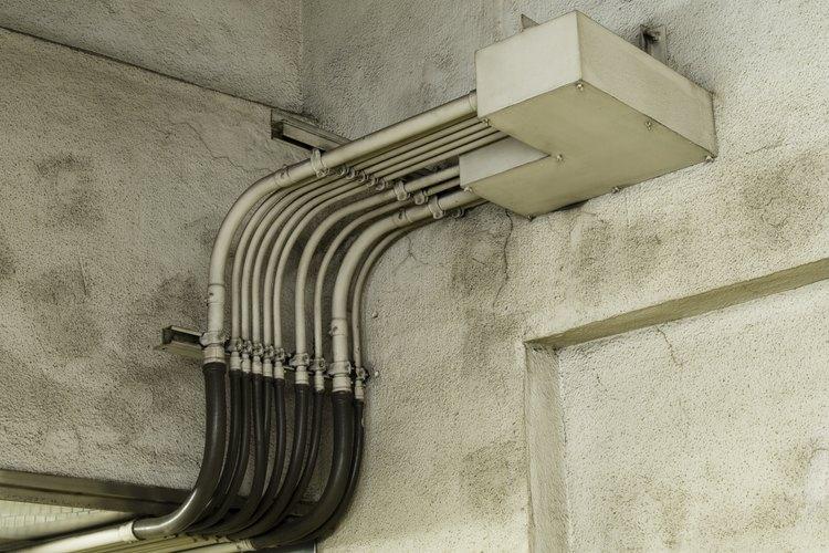 Conductor de cableado en una construcción.