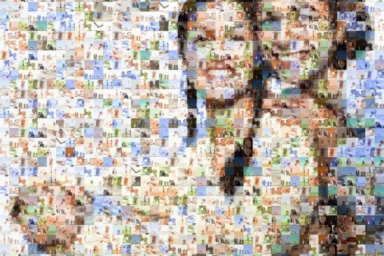 La nueva dimensión de la imagen proporciona profundidad y textura al collage.