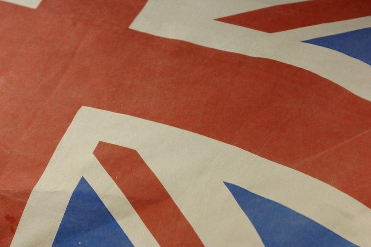 La bandera de Gran Bretaña es un acento decorativo adecuado.