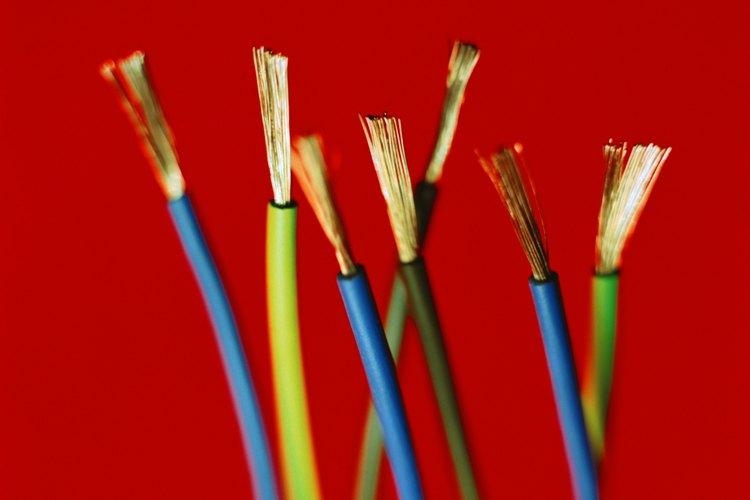Diferentes calibres de cables están clasificados para amperajes diferentes.