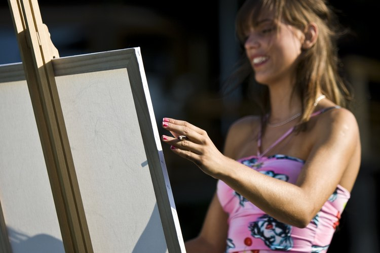 Existen artistas que hacen retratos rápidos.