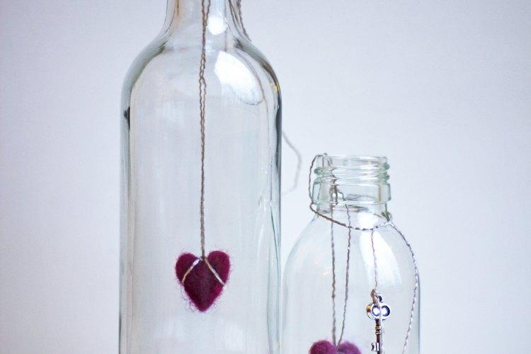 Decoraciones con botellas.