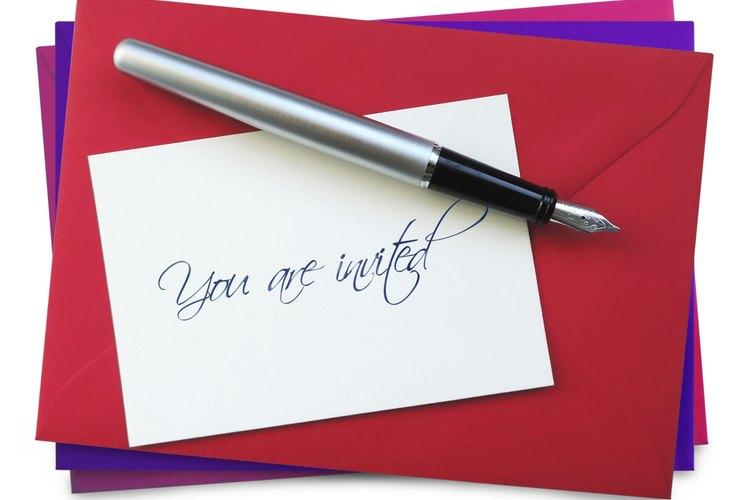 Sin tener en cuenta el tipo de invitación elegida, la hora y la fecha son datos importantes.