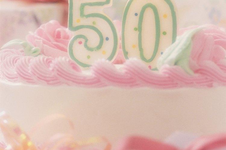 Haz recuerdos de fiesta para un cumpleaños 50.