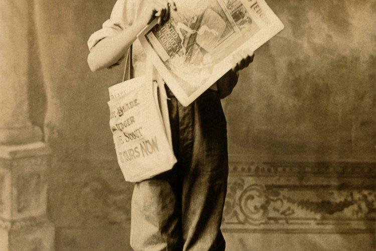 Los periódicos vintage pueden fijar la época de tu reproducción o fiesta temática.