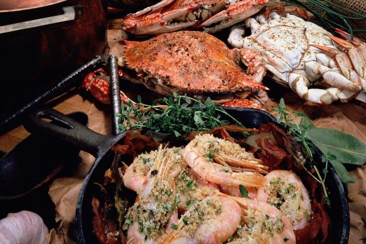 La cocina cajún a menudo incluye mariscos y sabor picante.